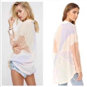 Free People Rainbow Rays Buttondown